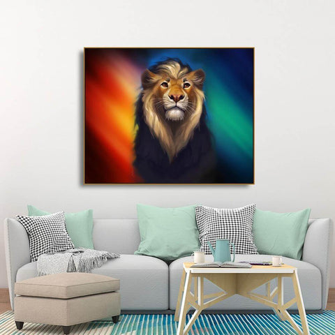 Poster Lion Degrade