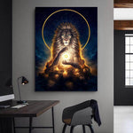 Poster Lion Galaxie