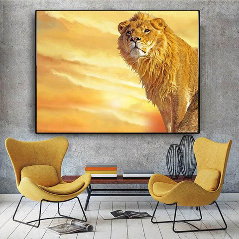 Poster Lion Majestueux