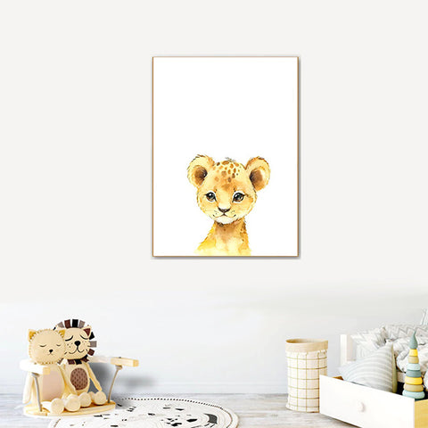 poster animaux chambre bebe