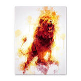 poster lion jungle