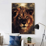 Poster lion mural
