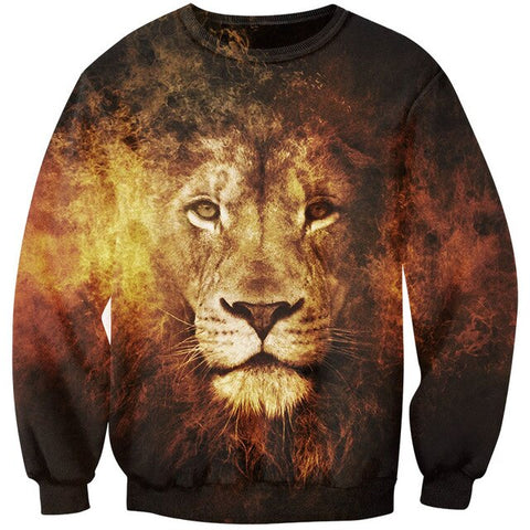 pull avec lion grande taille