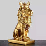 Statue Lion Couleur Doree