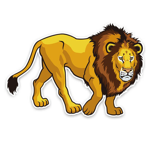 Sticker Dessin Lion