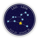 Sticker Lion Constellation