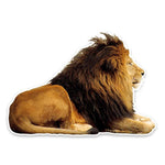 Sticker Lion Couche