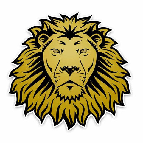 Sticker Lion Jaune