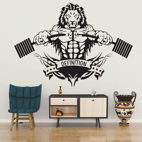 Stickers Lion Bodybuilding