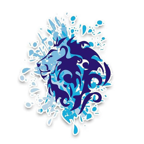 Stickers Lion Eau