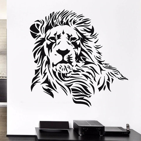 Stickers Noir Lion