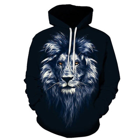 sweat à capuche lion