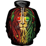 sweat rasta homme lion