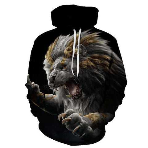 sweat shirt animaux lion