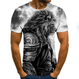 T Shirt Lion Guerrier