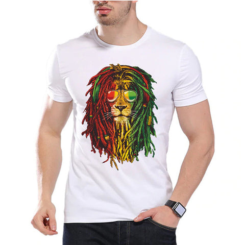 t shirt lion rasta