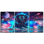 Tableau Lion 3 Pieces