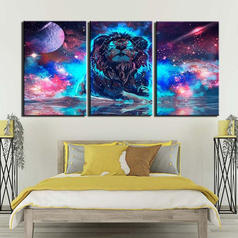 Tableau Lion Galaxie