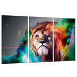 Tableau Lion Multicolore