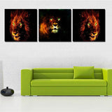 Tableau Tete de Lion Original