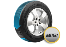 Tire Rotating Battery Intelligence