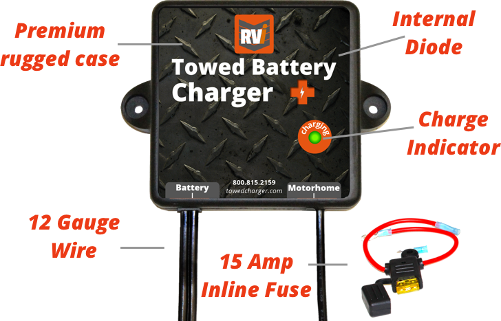 RVi Towed Battery Charger, charge line replacement