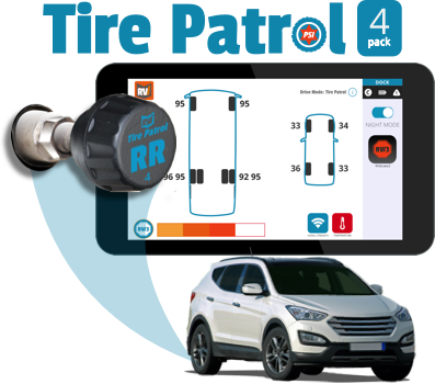 Tire Patrol: Tire Pressure Sensor 4-pk for Towed Vehicle