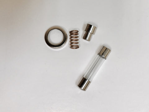 Brake Power Plug: Fuse, Spring, collar, & tip