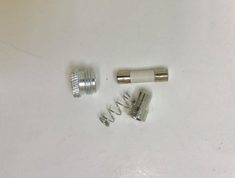 Monitor Power Plug: Fuse, Spring, collar, & tip