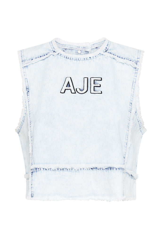 Crafted Denim Crop Top