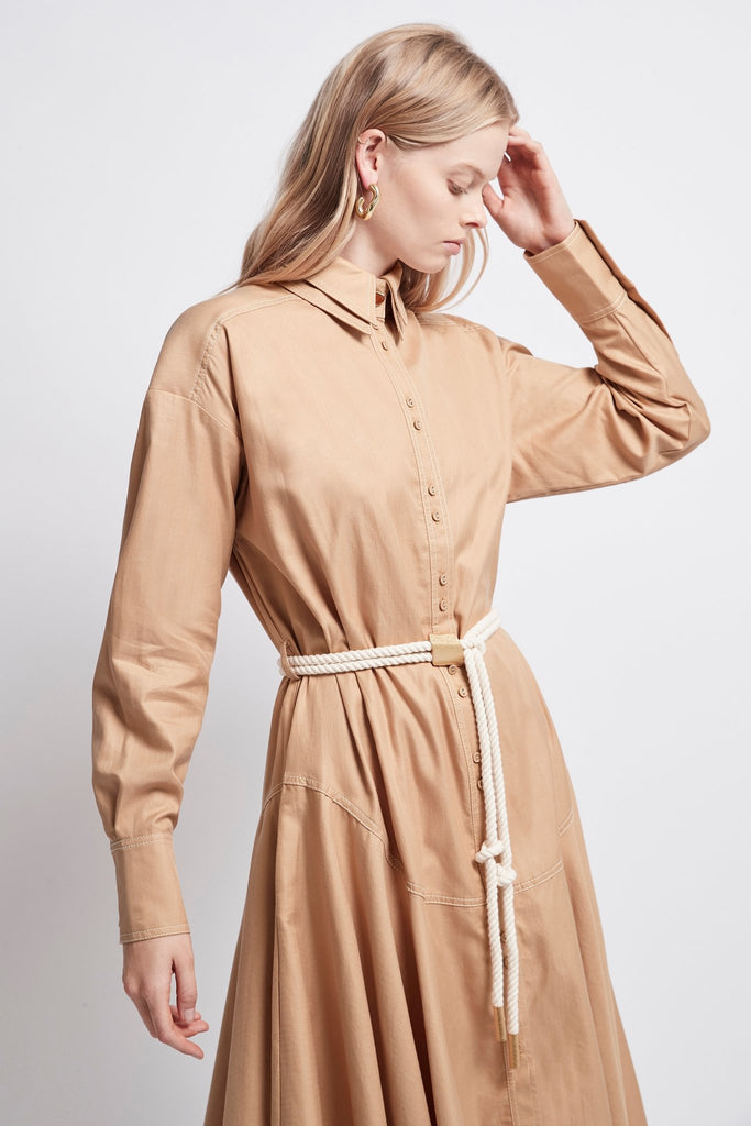 Liberation Herringbone Shirt Dress