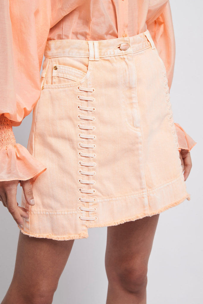 Framework Denim Lace Skirt