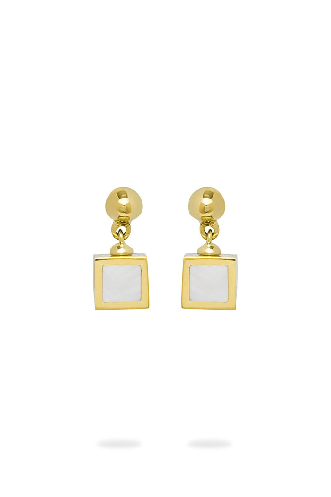 Small Mother of Pearl Drop Earrings