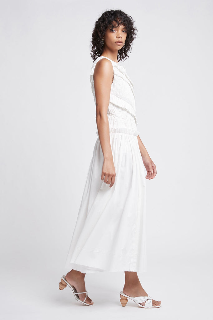 Hushed Ruffle Dress