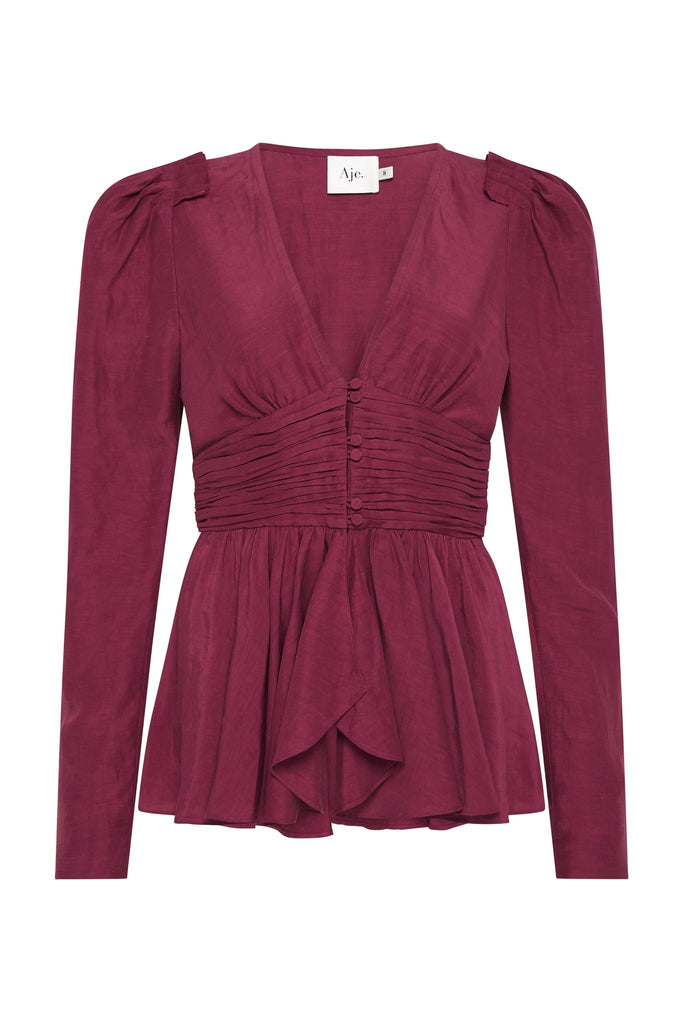 Rebellion Tucked Peplum Blouse