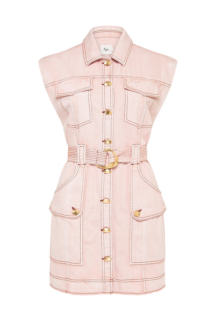 Darcel Denim Belted Dress