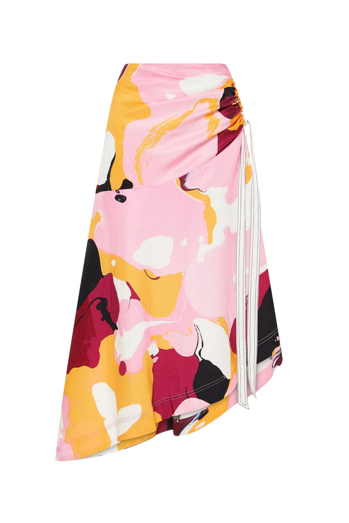 Psychedelia Waterfall Midi Skirt