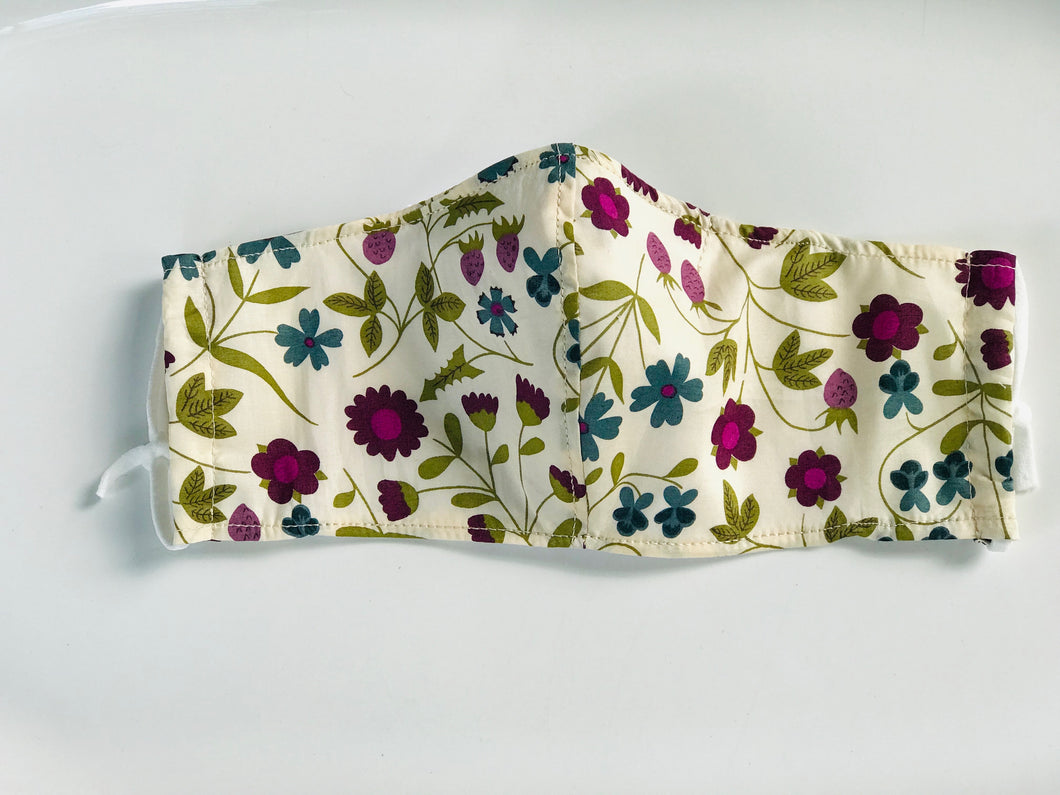 Handmade Fabric Face Covering - Small (Kids ages 6-12)
