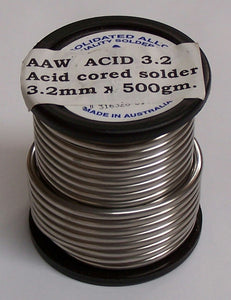 3.2MMACID Solder 3.2mm Acid Core 500g 60/40
