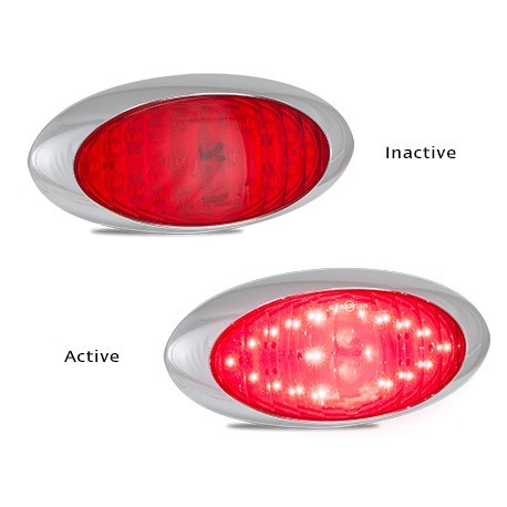 LED5437R LED Lamp Red Stop/Tail Oval 12V