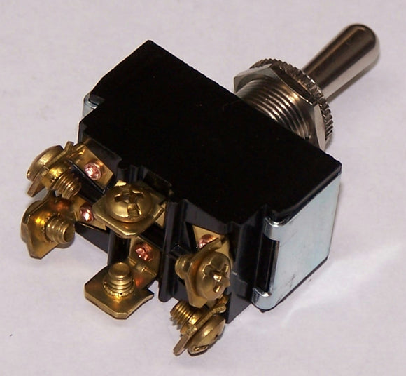 5592B SPECIAL-Switch Toggle On/Off/On 25A DPDT Screw Term