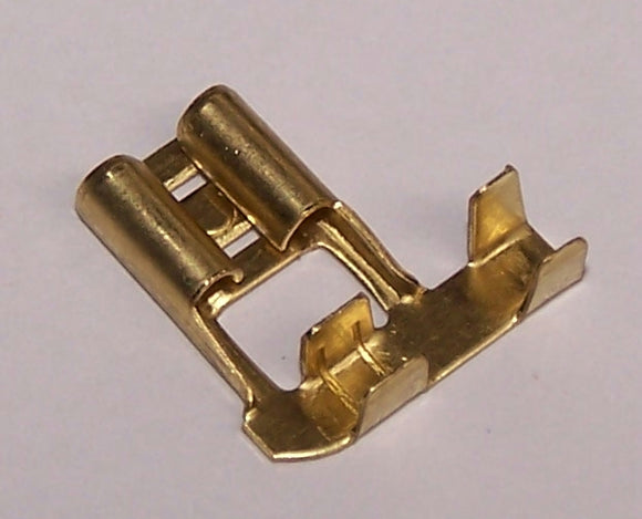 56228 Brass Flag 6.3mm Side Entry Terminal Bulk
