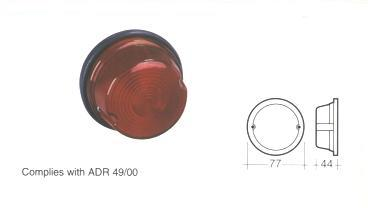 85820 Lamp Red Rear Stop