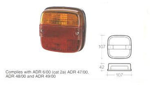 86030 Lamp Red/Amber Stop/Tail/Lic