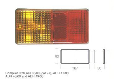 86470 Lamp Rear Stop/Tail/Ind/Lic