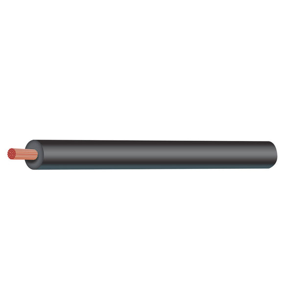 4MM30-BK Wire 4mm Black Roll