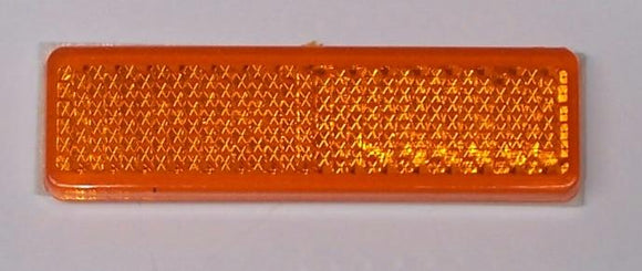 WR120A Reflector Amber 70x20mm Adhesive