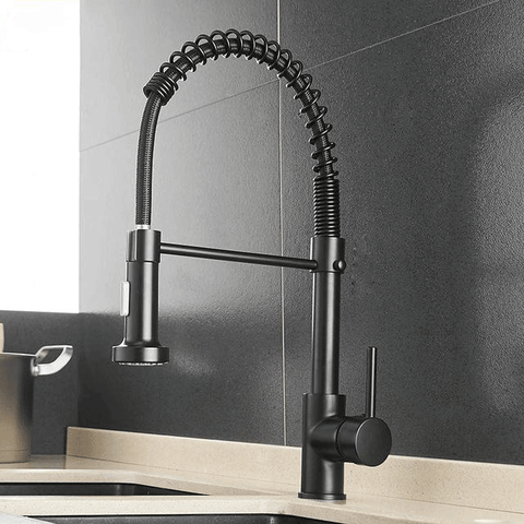 Modern Kitchen Faucet Rotating Swivel Matte Black