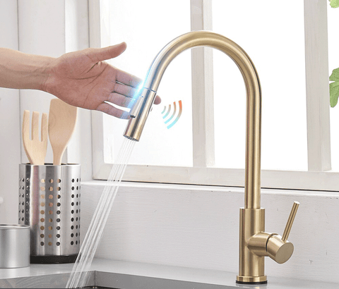 Image of Touchless Kitchen Faucet with Sensor
