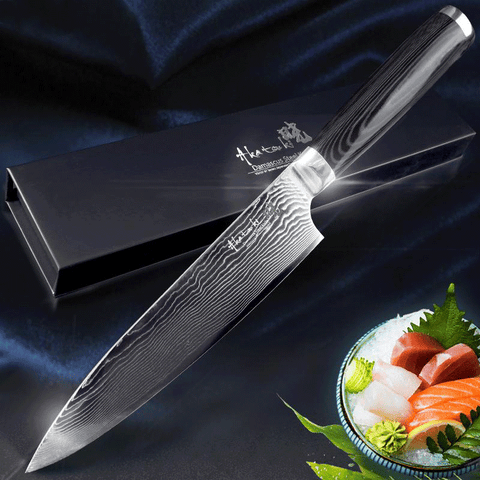 "Ultra Sharp 8"" Japanese Kitchen Chef Knife with VG10 Steel"